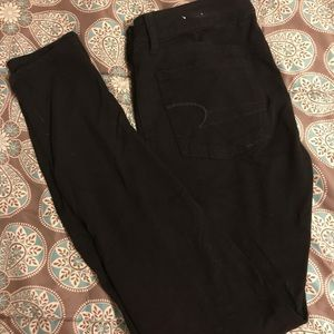 American eagle black jeggings size 6